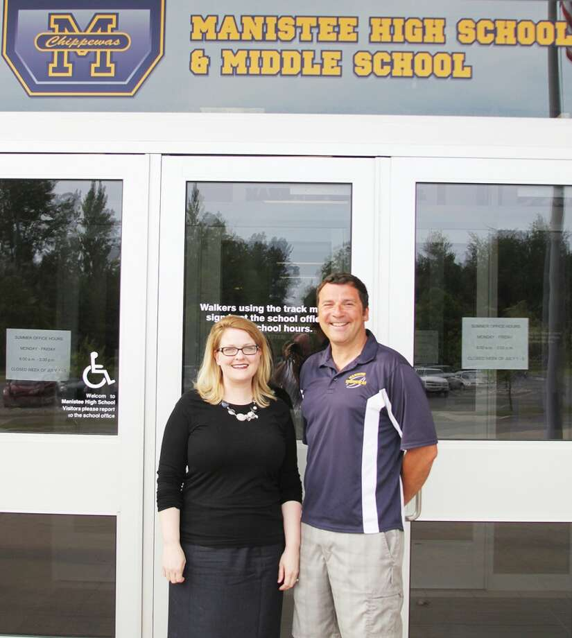 Julia Raddatz will become the new principal at Manistee High School and Jason Traviss will take over as the middle school principal for the 2013-14. (Ken Grabowski/News Advocate)