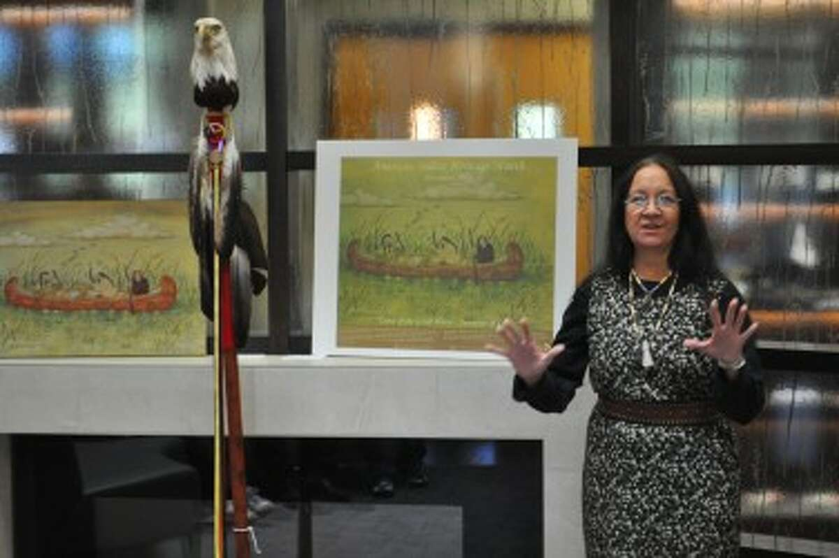 Shirley Brauker, member of the Little River Band of Ottawa Indians, was recently selected by the National Resources Conservation Service in a statewide art contest for a poster commemorating American Indian Heritage Month.