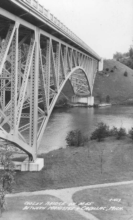 This 1960s photograph shows the underside of the Cooley Bridge that is located in Manistee County.