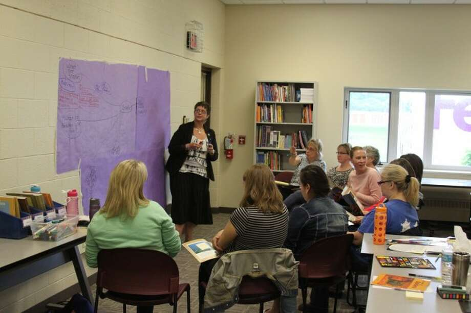 Sharon Russell from the University of Michigan was in Manistee to present the Adolescent Accelerated Reading Initiative program to Manistee Area Public Schools teachers. The program is designed to improve reading skills for students.