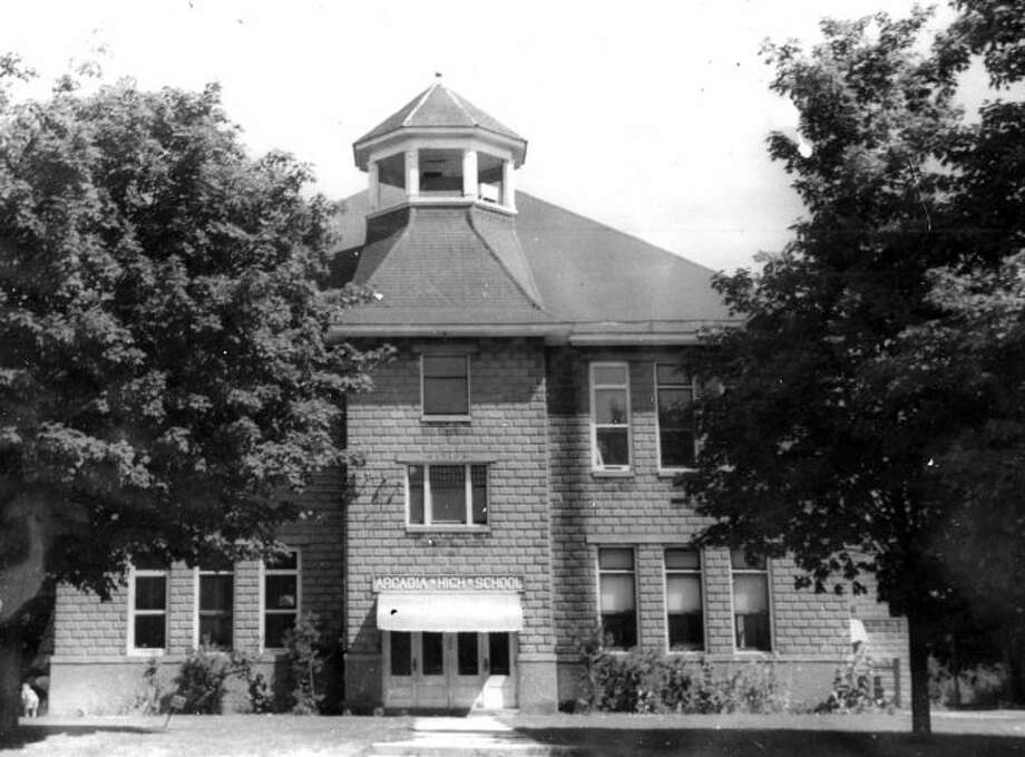 The Arcadia High School is shown in this photograph from the early 1950s.