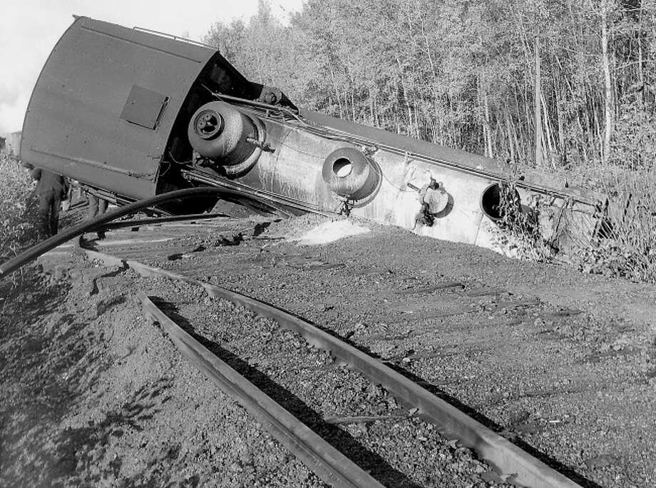 In the early days of railroad in Manistee County it was not uncommon for a train wreck or two to take place during the the course of a year.