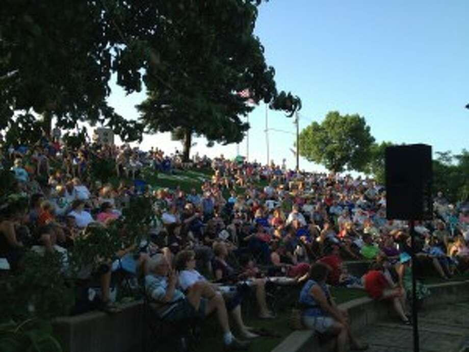 At 7 p.m. on each Thursday through Aug. 28, crowds gather at the Jaycees' Bandshell on Manistee River to hear a variety of musical performers as part of the Manistee Jaycees' Roots on the River concert series.
