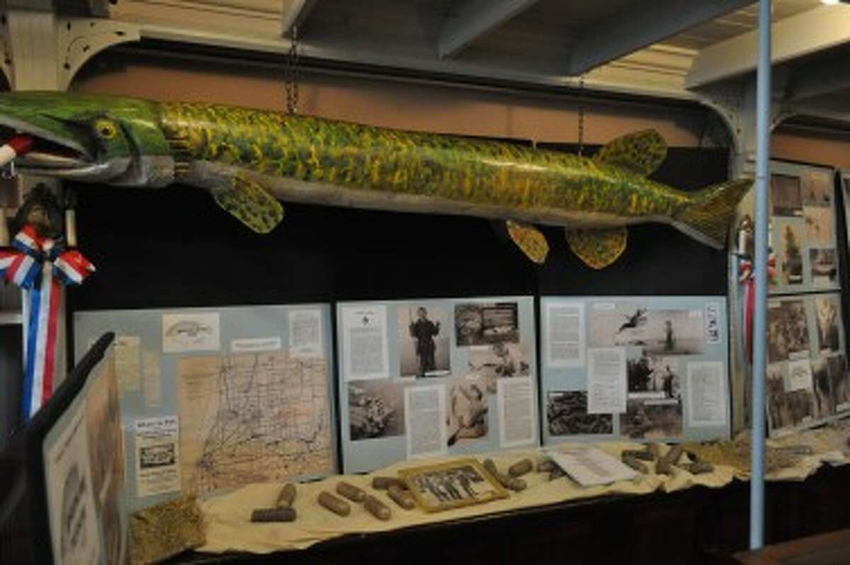 The Manistee County Historical Museum's fall exhibit features pictures, newspaper articles and artifacts all about fishing in Manistee County.