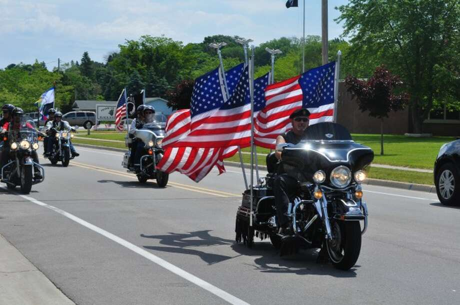 About 300 riders participated in the Pure Thunder Escorted Veterans Memorial Ride on Saturday throughout Manistee and Benzie counties. Funds raised at the event will benefit Michigan veterans.