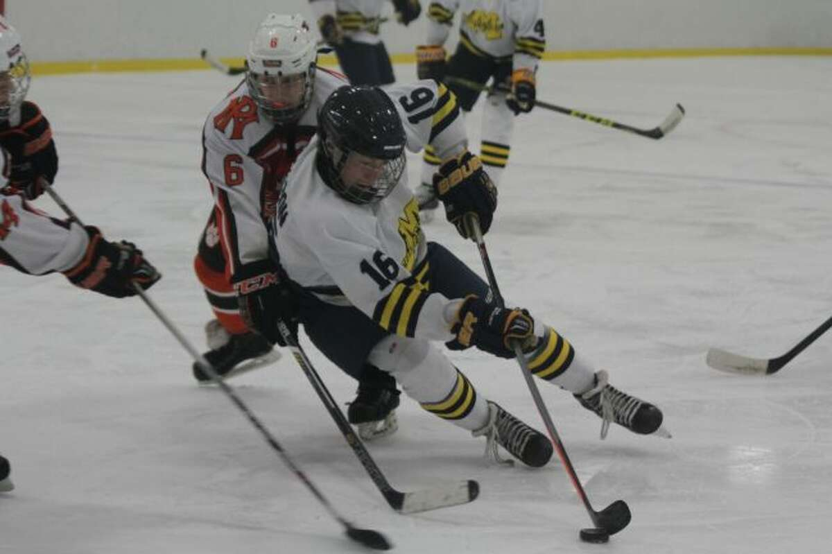 The Manistee High School hockey team is one of the many groups that use the West Shore Community College Ice Arena.