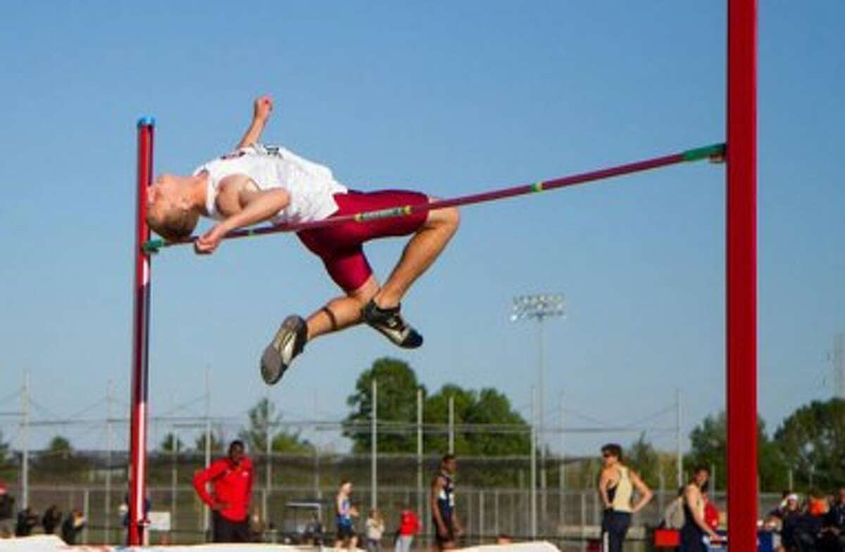 Ryan Helminiak, a 2009 Manistee graduate, was a two-time All-American in the high jump before graduating from Aquinas College. (Photo courtesy of Aquinas College Athletics)