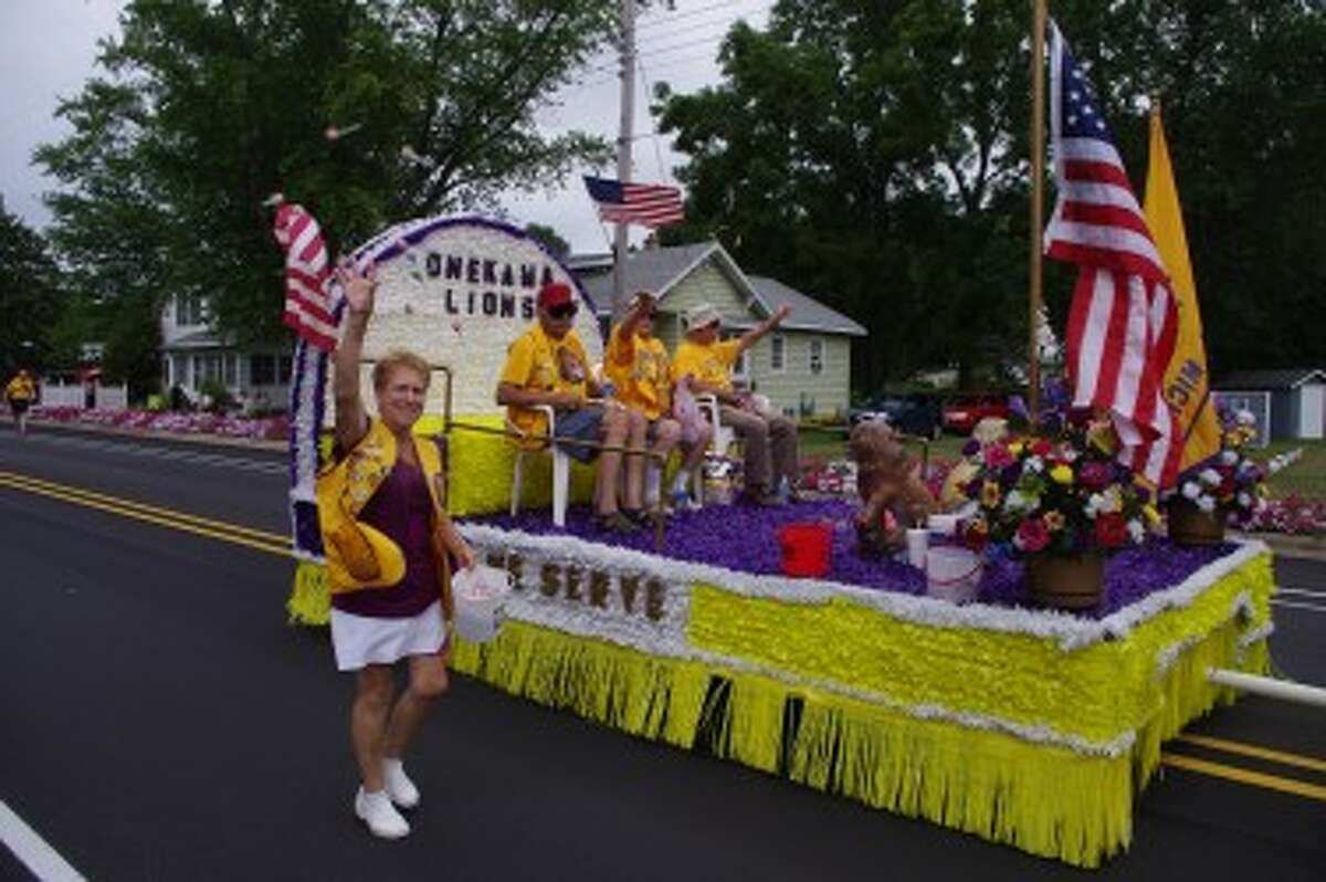The Onekama Days grand parade will go from village park to Dyke Street at 1 p.m. on Sunday.