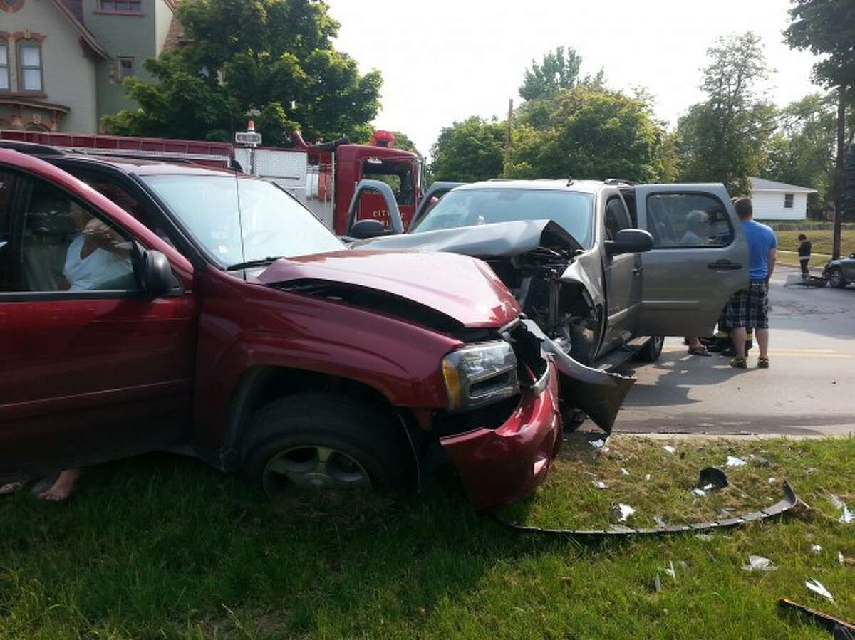 Courtesy photoEight people received minor injuries on Saturday afternoon after a three-car crash near the intersection of Oak and First streets.