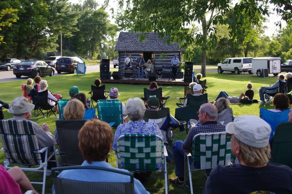 It was a beautiful night Friday for the Concert at the Log Cabin in Kaleva. The band Power Play provided the music. (Dave Yarnell/News Advocate)