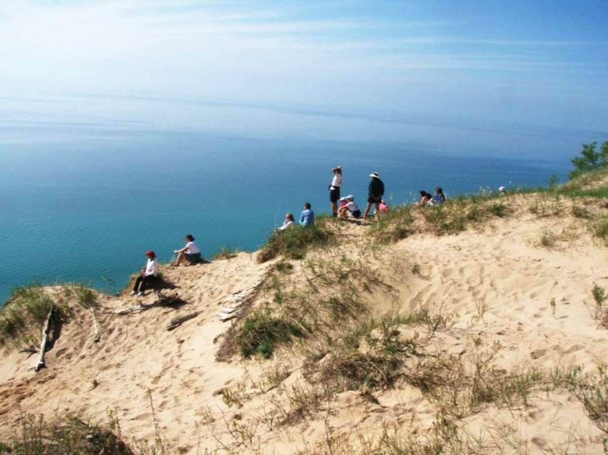 Hikers can enjoy the view of Lake Michigan from the bluffs and trails around Arcadia. Volunteers will be working to help the area remain healthy for years to come. (Courtesy Photo)