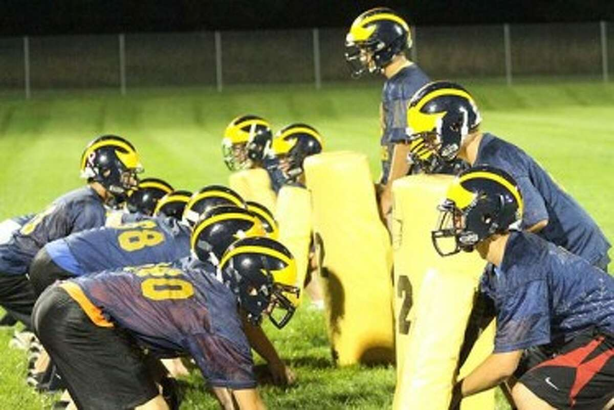 The Manistee Chippewas participate in drills on the first day of practice last season. All area football teams will open the 2013 season with first practices next Monday. (Matt Wenzel/News Advocate file photo)
