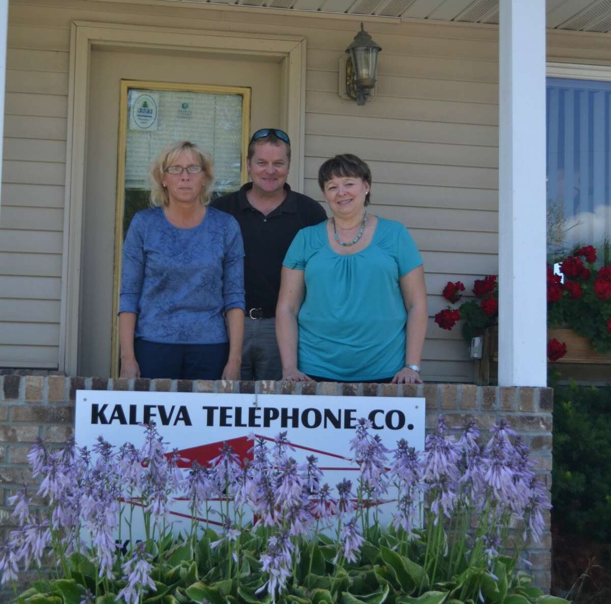 Three of the Kaleva Telephone Company's 11 employees are (FROM LEFT) Bonnie Lindeman, John Cribbs Jr. and Deborah Maxey. (Meg LeDuc/News Advocate)