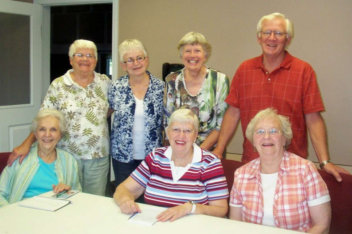 Some of the committee members who are working on a benefit dinner for Doug Hanna, who has been burdened with cancer treatment expenses, are (from left to right, front row) Patricia Kamaloski, Barbara Rees, Pat Krolczyk, (back row) Yvonne Gorman, Rose Mary Sutter, Jeanne Youngberg and Mert Youngberg. It will be held from 5 to 7 p.m. on Thursday at St. Joseph's Parish Hall, 249 Sixth St., Manistee. The fundraiser is being planned by the Catholic Community of Manistee and Faith Covenant Church. (Courtesy Photo)