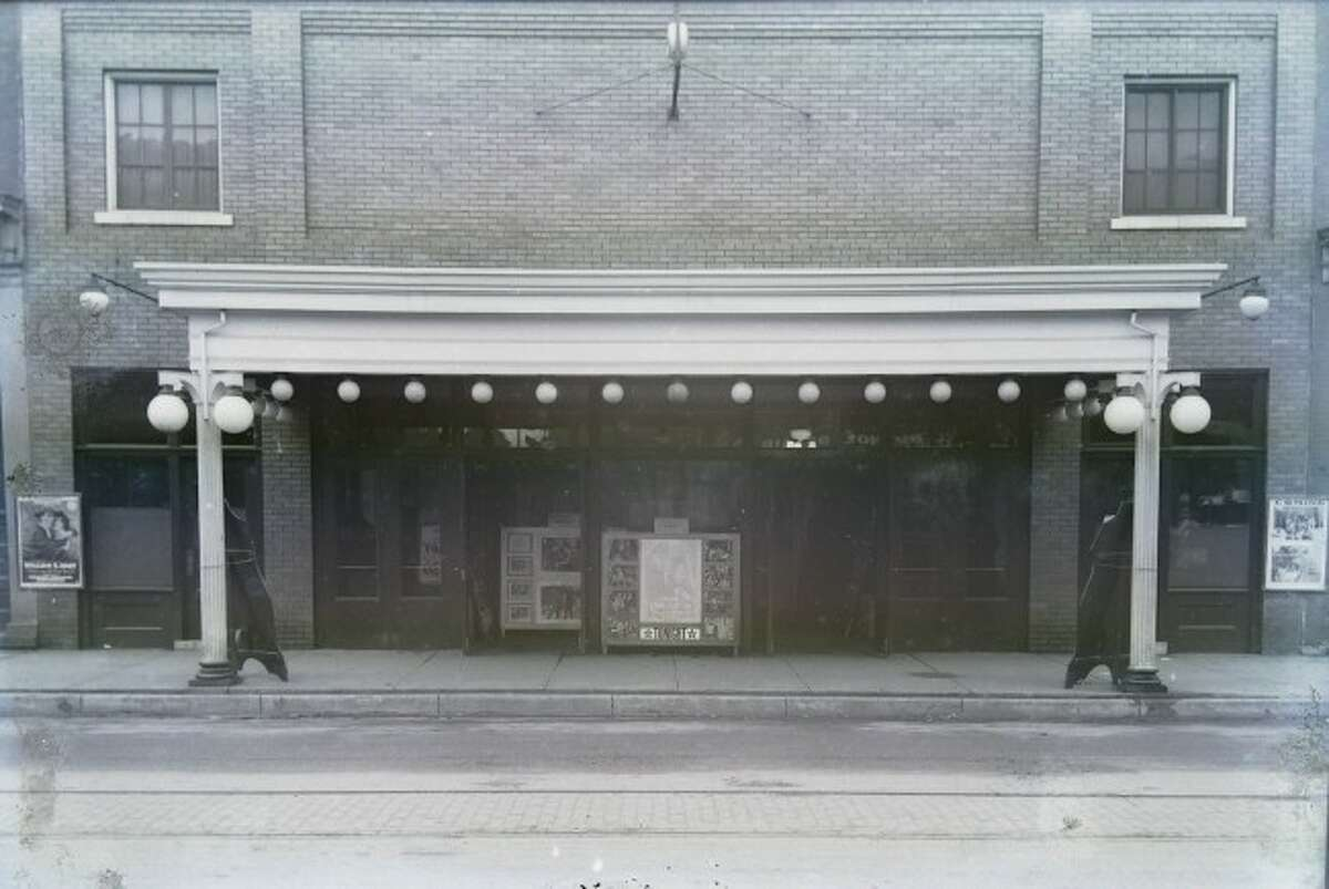 A view of the Lyric Theatre formerly located near the west end of River Street circa 1920s.