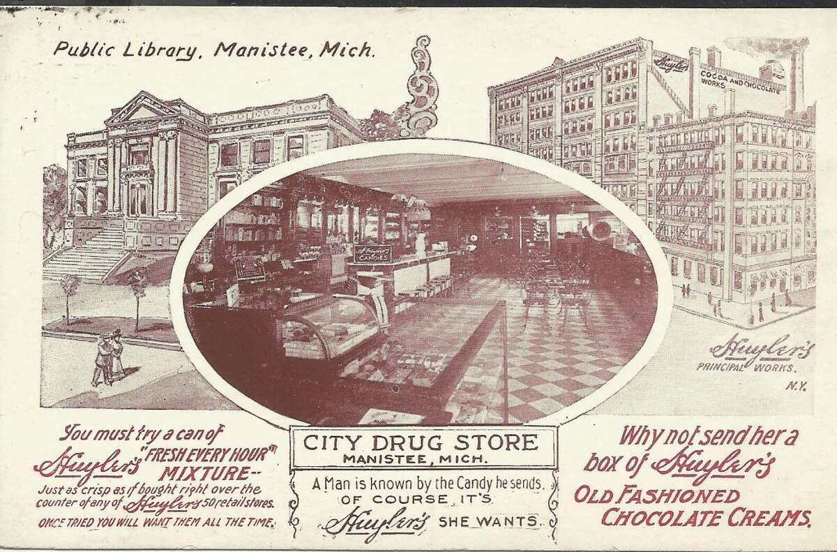 A promotional card printed by City Drug Store when the business operated from the River Street location in Manistee now occupied by TJ's Pub. (Courtesy Photo/Dale Picardat)
