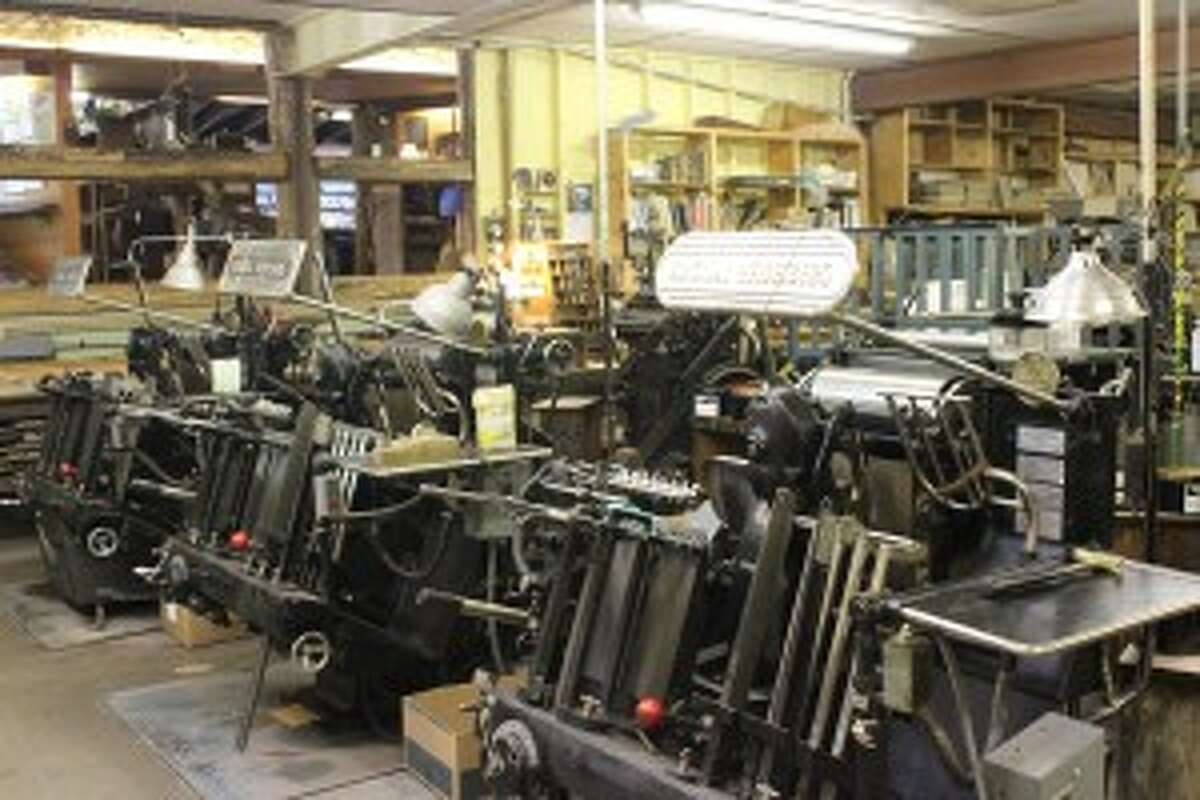 Gwen Frostic Prints, which was just added to the National Register of Historic Places, still uses mechanical printing presses. (Courtesy Photo)