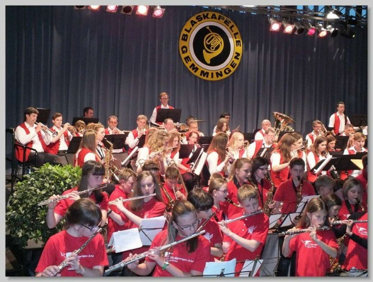 The Blaskapelle Gemmingen musical group will be performing a free concert at 7 p.m. on Aug. 24 at the Manistee Jaycee Riverwalk Bandshell. The group is being brought here through the Blue Lake Arts Academy.