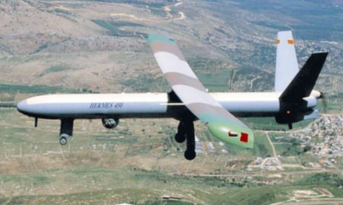 A Hermes 450 unmanned aerial vehicle deployed by the U.S. Department of Homeland Security. (Courtesy Photo/U.S. Department of Homeland Security)