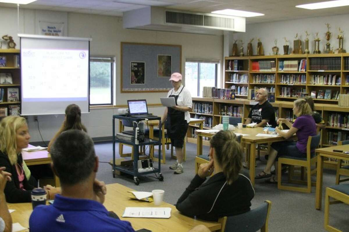 Kaleva Norman DIckson food service director Jenice Momber hosted the Boost Breakfast program for area food service directors on the benefits of the breakfast in the classroom. The program talked about how KND is the only school in the state doing a K-12 breakfast in the classroom program.