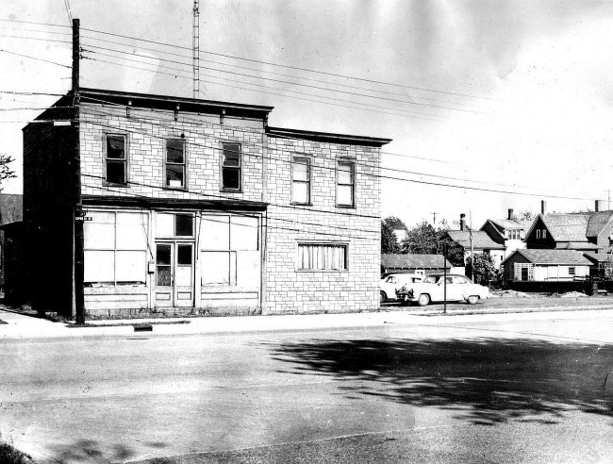 The corner of Sixth and Cypress circa 1940s.