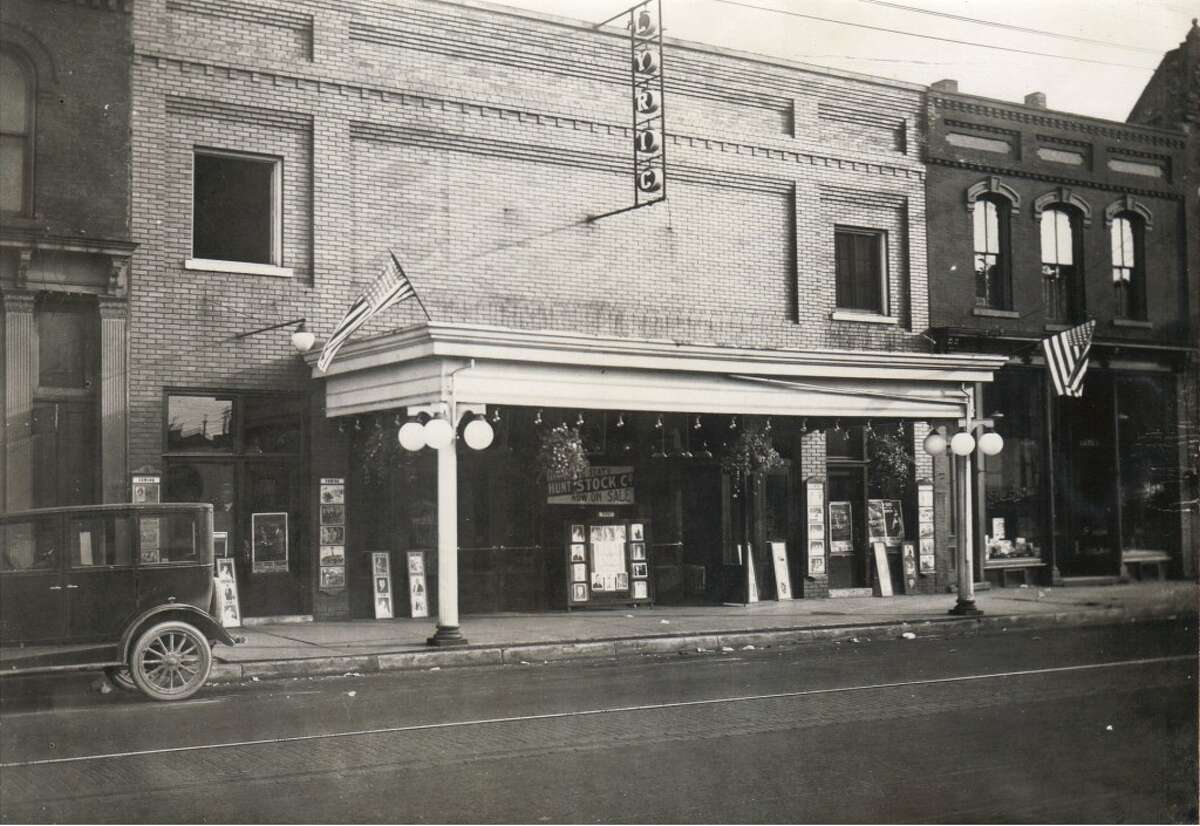An early 1900s photo of the Lyric Theater in Manistee, a movie house at 415 River St. in Manistee. The building is currently the home of the Salvation Army. (Courtesy Photo/Manistee County Historical Museum)