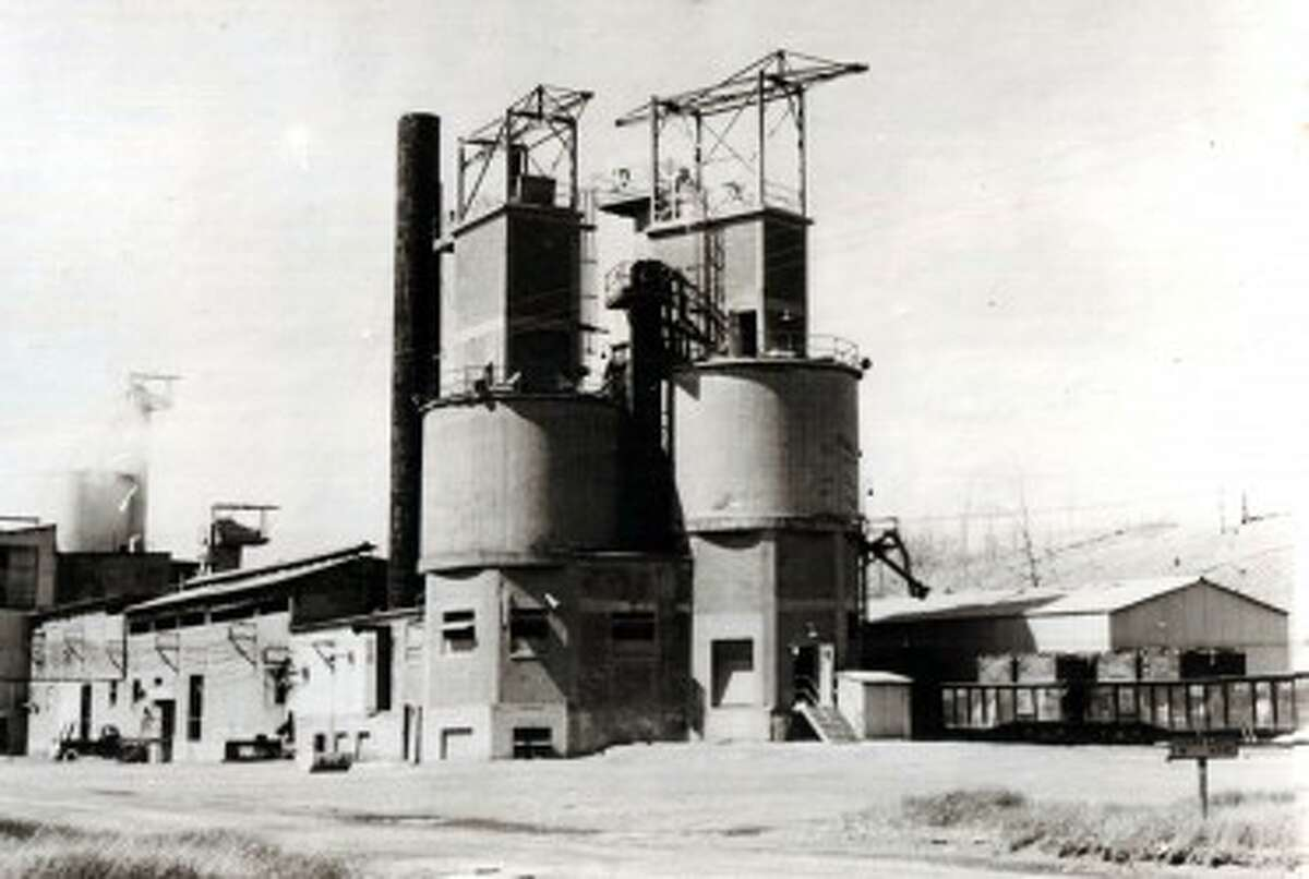 The Standard Lime and Stone Company, seen in this 1945 photo, evolved into the modern day Martin Marietta plant on the south east side of Manistee Lake. (Courtesy Photo/Manistee County Historical Museum)