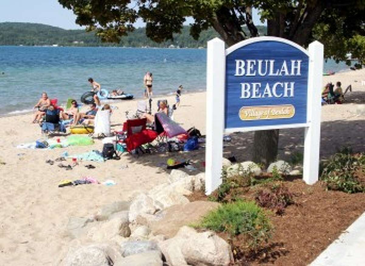 The village of Beulah recently completed improvement on its waterfront park and with another grant, the work will be able to continue. (Roland Halliday/Pioneer News Network)