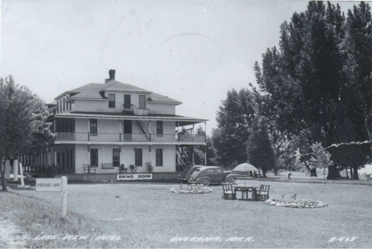 A 1930s photo of the former Lakeview Hotel in Onekama. (Courtesy Photo/Manistee County Historical Museum)