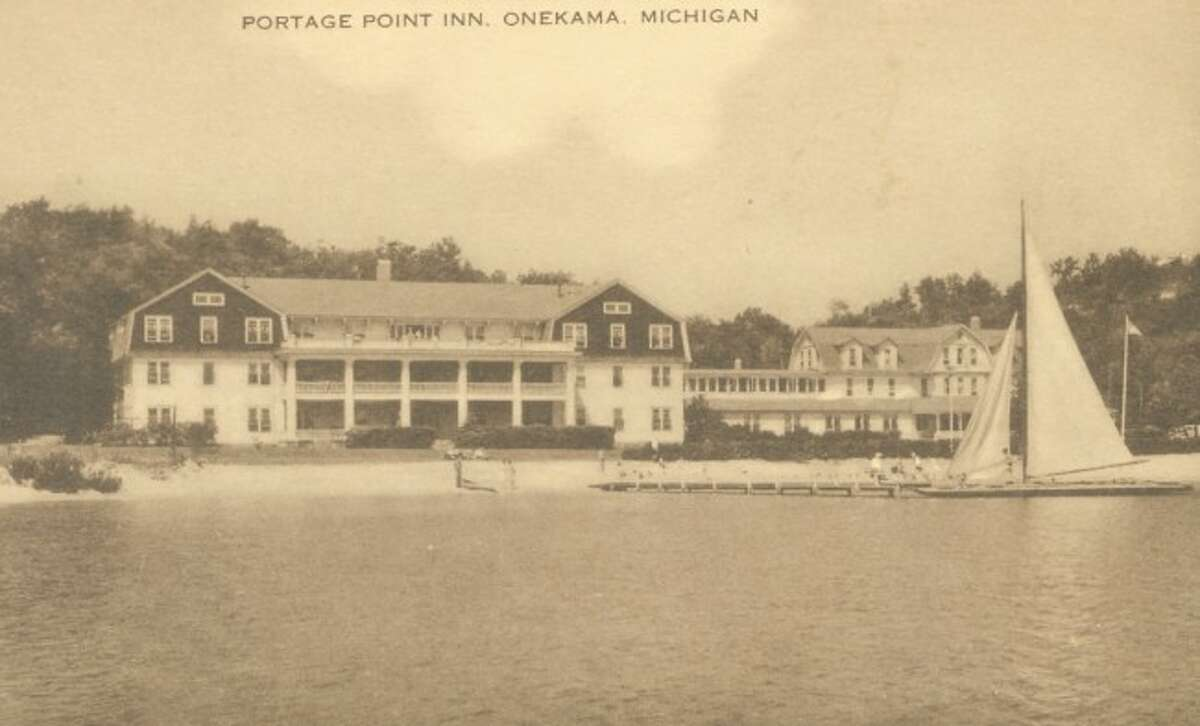 The Portage Point in is shown in this 1940s picture on a warm summer day.