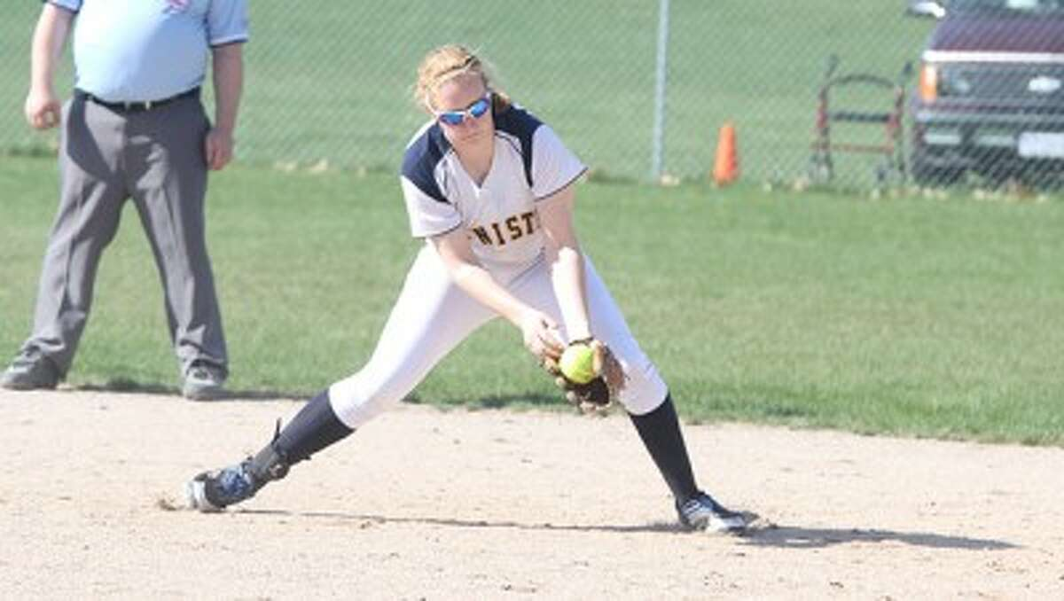 Megan Vander Weele, a 2013 Manistee graduate, will play for the Muskegon Community College softball team. (Matt Wenzel/News Advocate file photo)