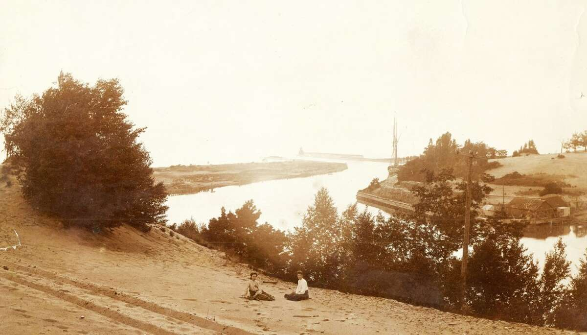 An early 1900s photo of the mouth of the Manistee River Channel. (Courtesy Photo/Manistee County Historical Museum)