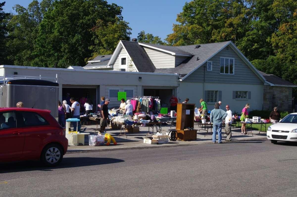 A multi-family yard sale was held near Oak Grove Funeral Home on Main Street in Bear Lake. (Dave Yarnell/News Advocate)