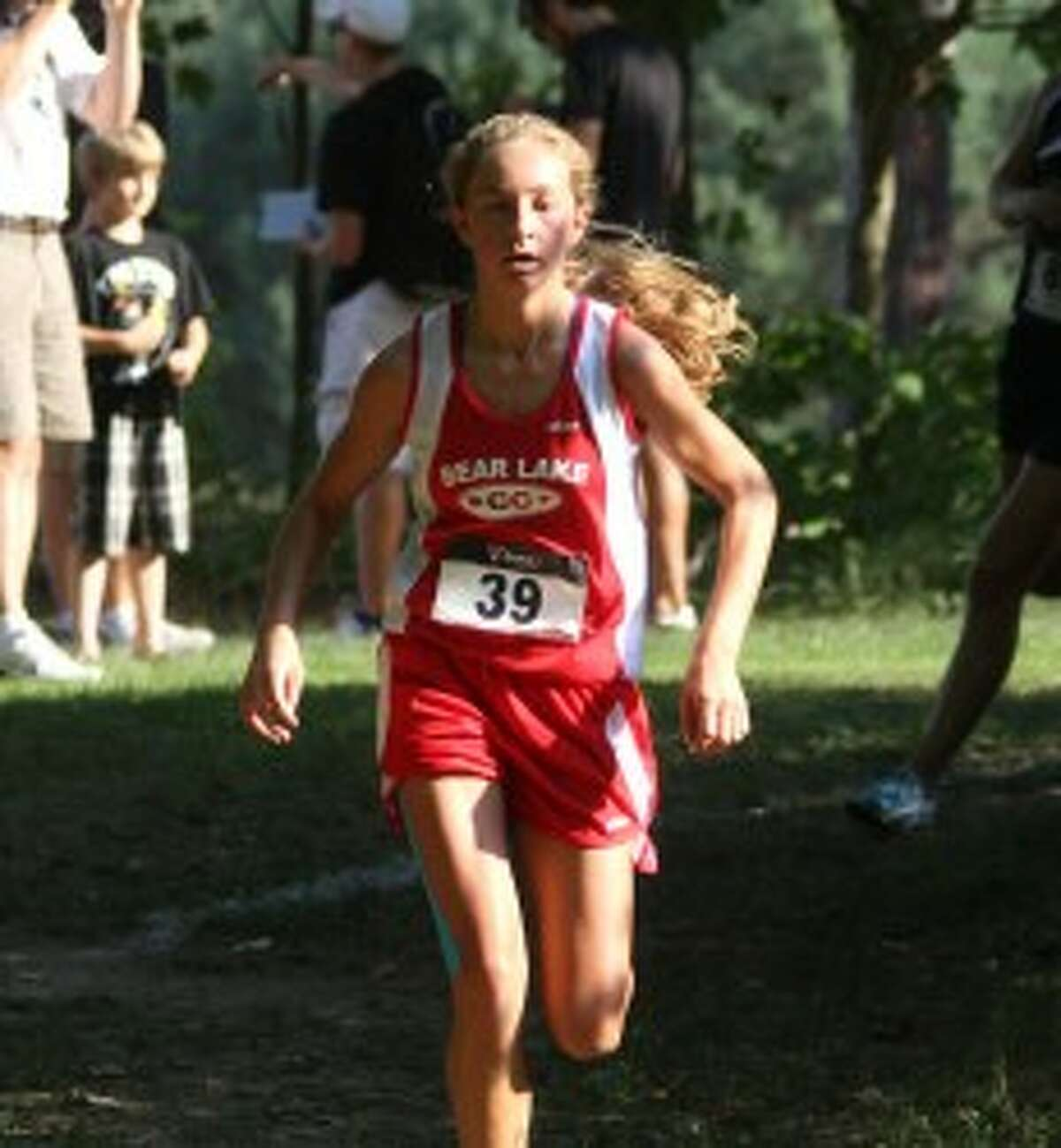 Bear Lake sophomore Keena Gilbert paced the Bear Lake girls' second-place finish on Saturday at Benzie by taking third overall individually in the time of 20:33. (Matt Wenzel/News Advocate)