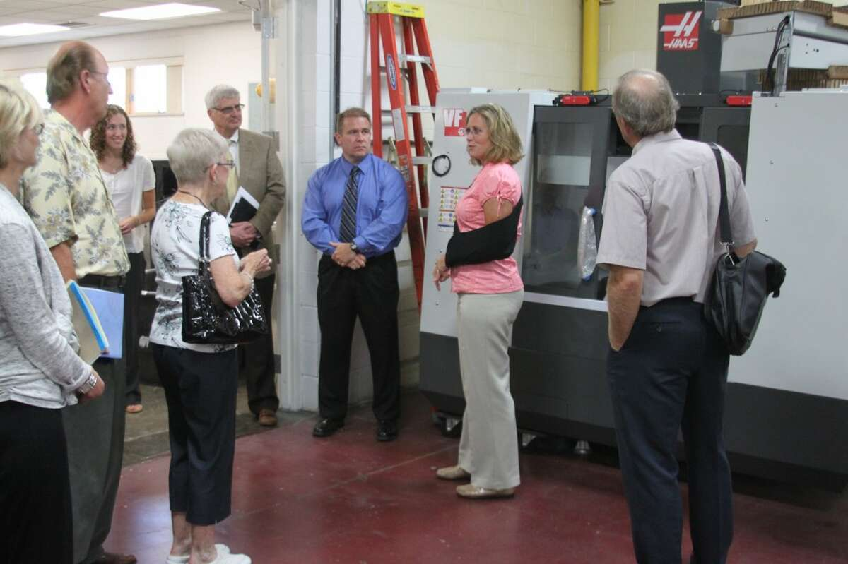 West Shore Community College administrators took the board of trustees on a tour fo the campus following Monday's meeting.