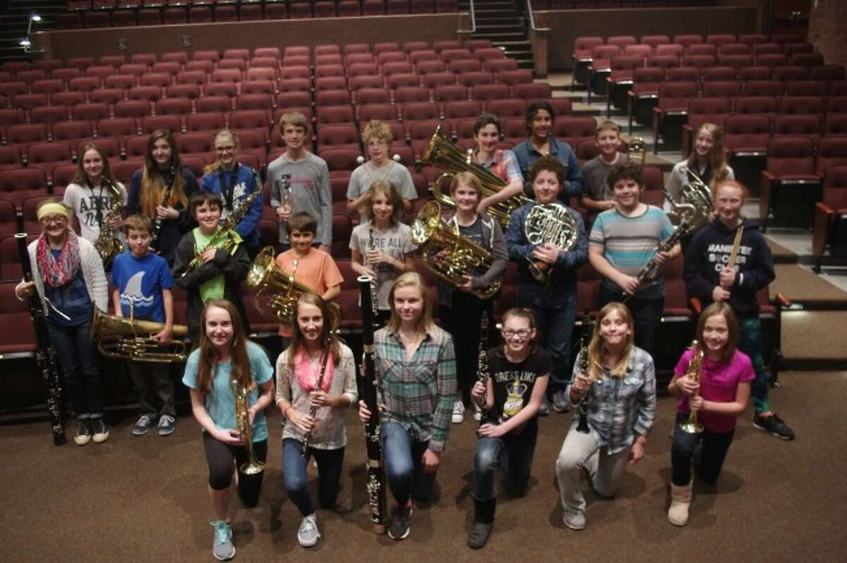 Members of the Manistee Middle School band who took part in the recent solo and ensemble competition are shown.