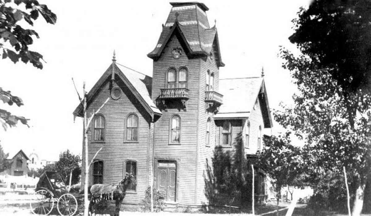 C.B. Lewis was a well-known Manistee businessman throughout the later 19th Century. The Lewis Home was located at 205 Maple Street. In the early 1940s, the home was renovated into the Seventh Day Adventist Church.