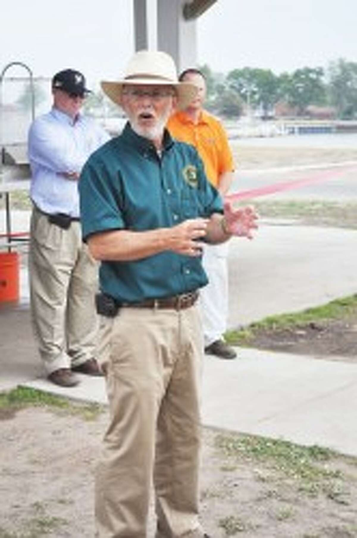 Jim Dexter, Michigan Department of Natural Resources fishing division chief, was present on Wednesday for the dedication of the First Street Beach fish cleaning station.