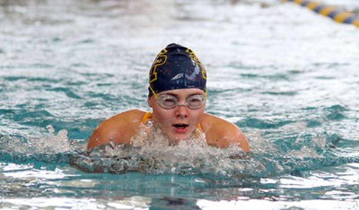 Manistee's Anna Kutschke qualified for the state finals in two individual events and three relays as a freshman. (Matt Wenzel/News Advocate file photo)