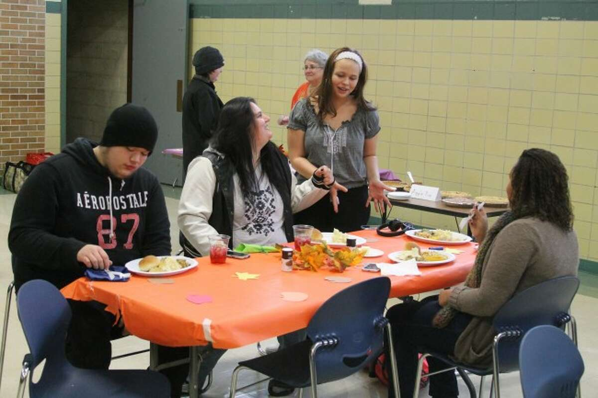The students at CASMAN Academy held a Thanksgiving feast on Tuesday at the school.