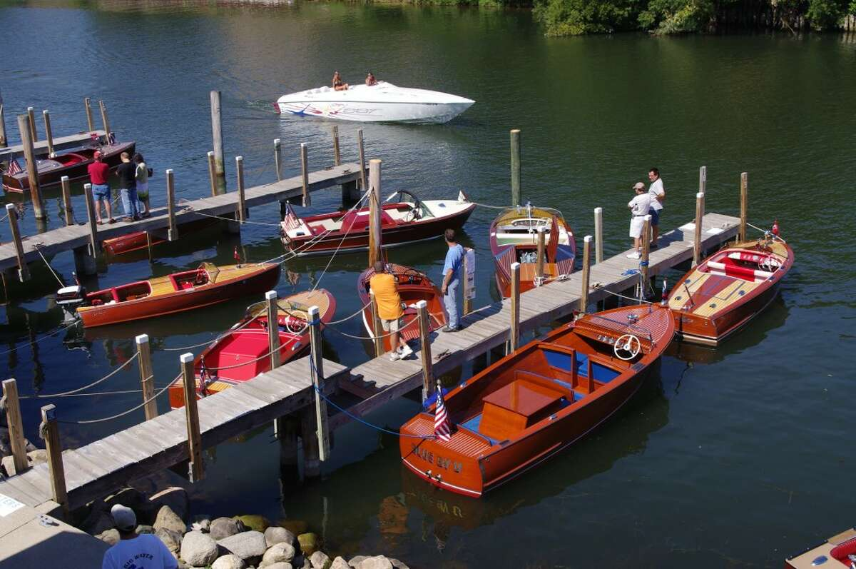 Manistee Hops & Props on the River, taking place Saturday in downtown Manistee, will feature a classic wood boat show on the Manistee River, an Arts Alive art show and sale, and beer and wine tasting. Events begin at 10 a.m. (News Advocate File Photo)