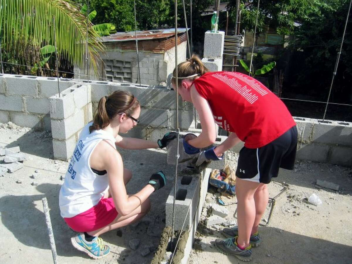 Students from Manistee High School and Manistee Catholic Central will once again be taking part in the Rotary trip to the Dominican Republic in February to help construct a school building. The students pay their own way to take part in this program. Shown is a picture from last year's trip.