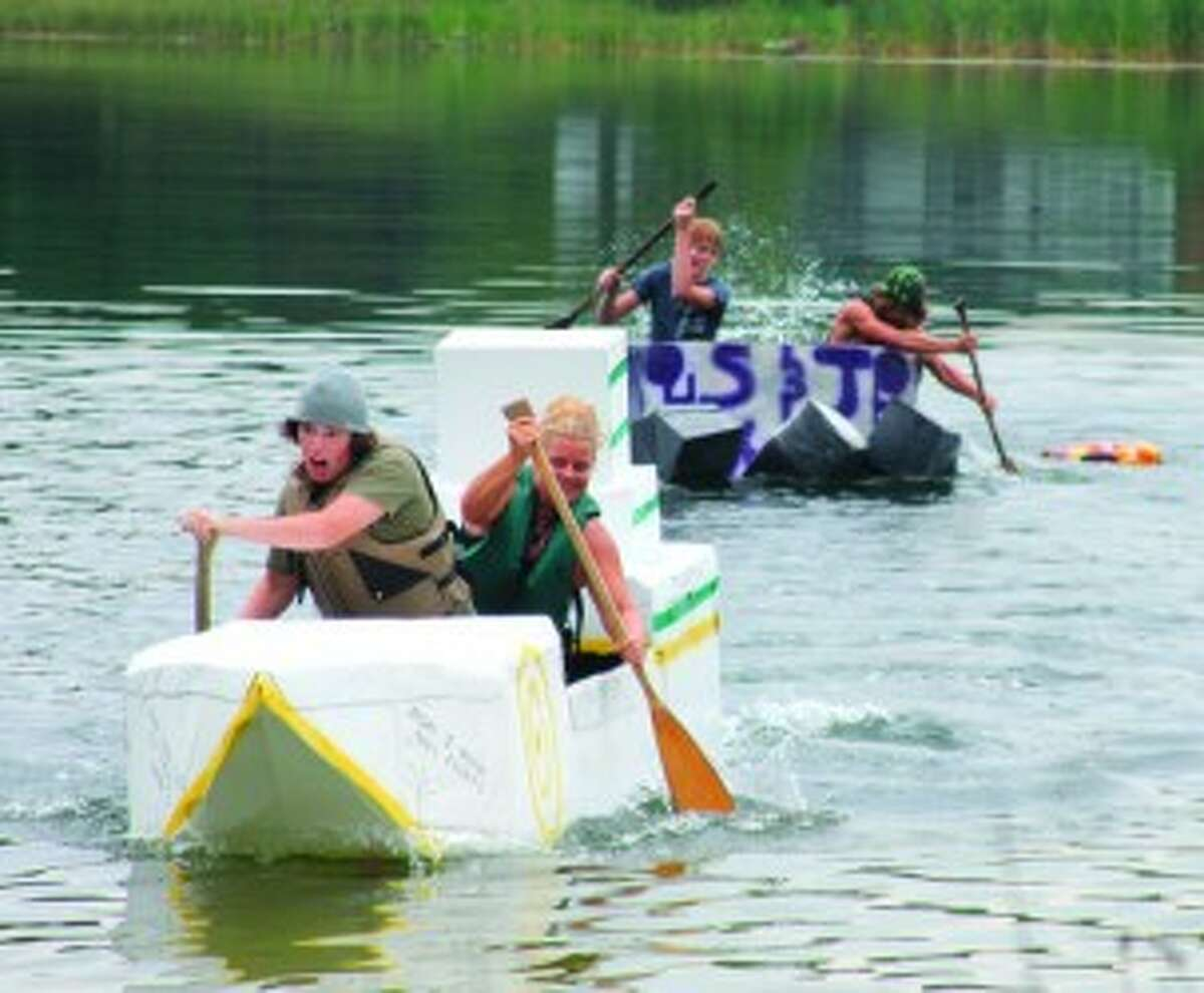 Registration for the Brethren Days cardboard boat race will be held at 11 a.m. on Saturday near Lake Elinor. Races will start at noon.