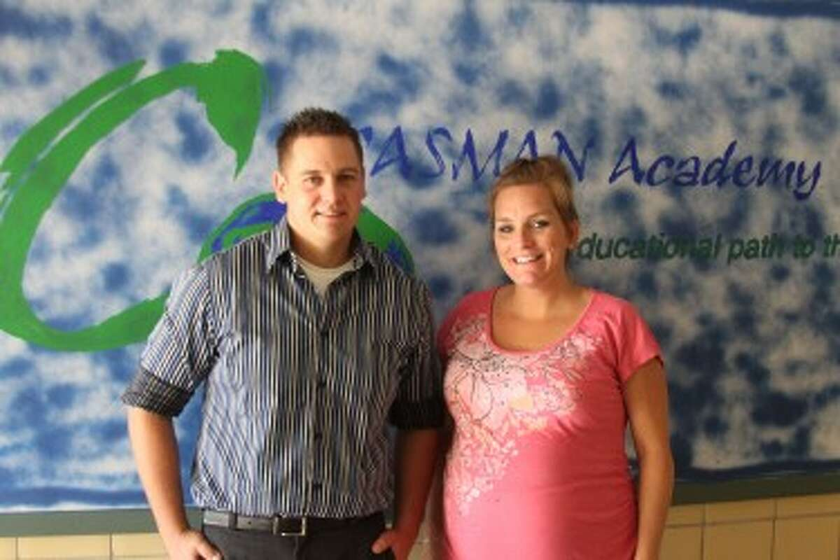 CASMAN teachers new to their school this year are Ben Beaumont who will be workiing with students taking online classes and Erin Swiatlowski who teaches special education. (Ken Grabowski/News Advocate)