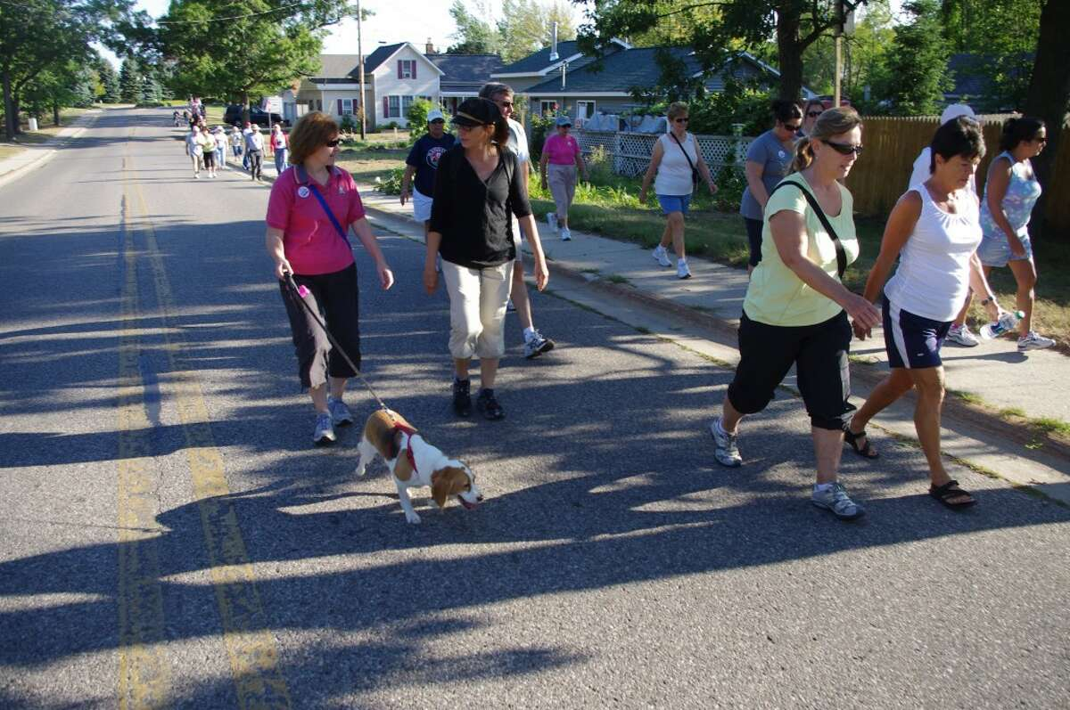Manistee's third annual Labor Day Bridge Walk, like the Mackinac Bridge Walk, will cover approximately five miles through various streets in Manistee (walkers can shorten their routes, if they wish). It starts at 9 a.m. Monday from Douglas Park First Street Beach in Manistee. (News Advocate File Photo)