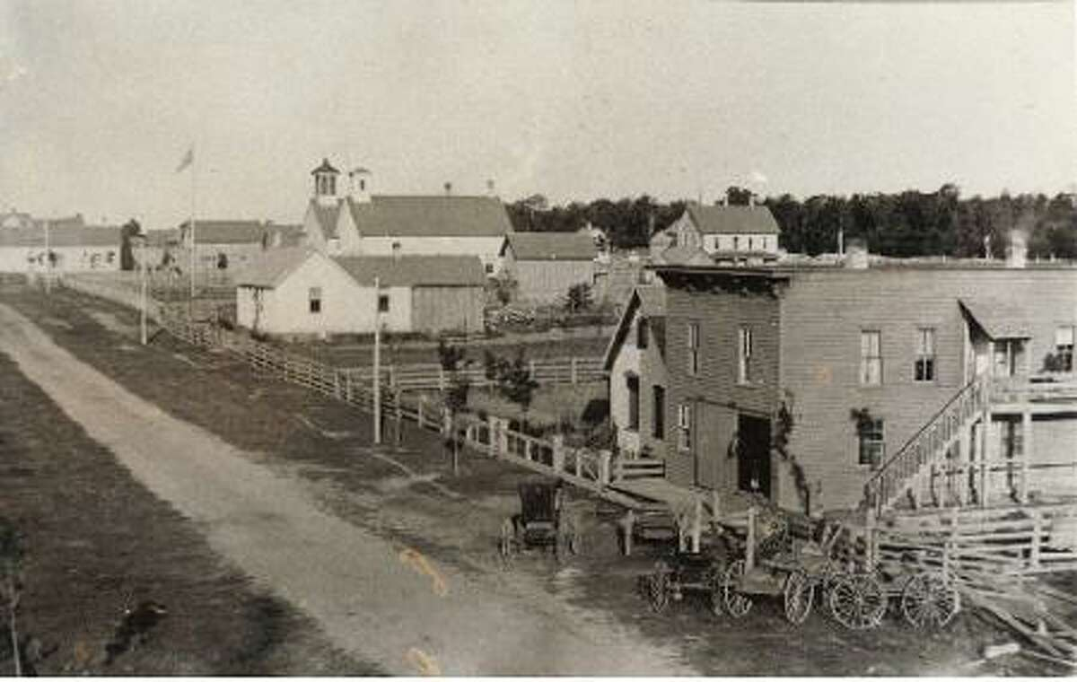 From years gone by, a photo of the main street in Arcadia. (Courtesy Photo/Manistee County Historical Museum)