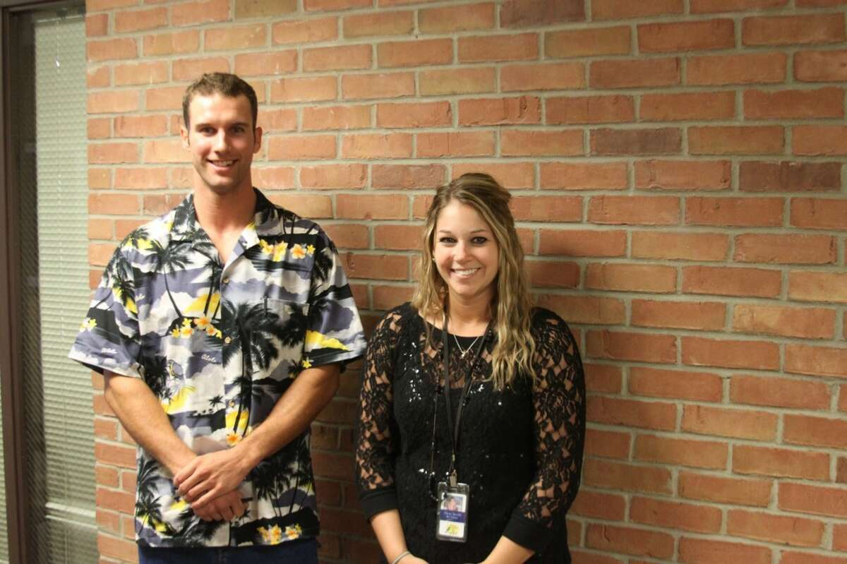 New teachers working for the Manistee Intermediate School District this year in the Moderately Cognitively Impaired classrooms are Jake Townes and Alyse Jacobi. (Ken Grabowski/News Advocate)