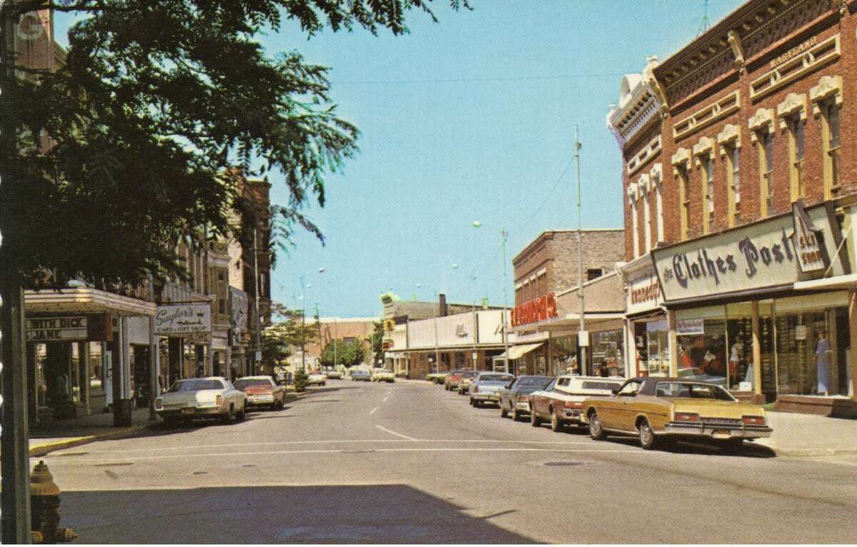 A westward view of River Street in the early 1970s. (Courtesy Photo/Manistee County Historical Museum)