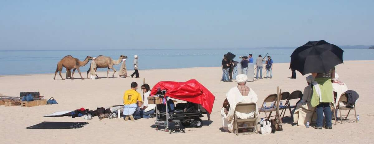 Shown is a scene from Mickey Matson that was filmed at Fifth Avenue Beach by 10 West Studios. The red carpet premiere will be held on Saturday, Sept. 22 at the Ramsdell Theatre. (File photo)