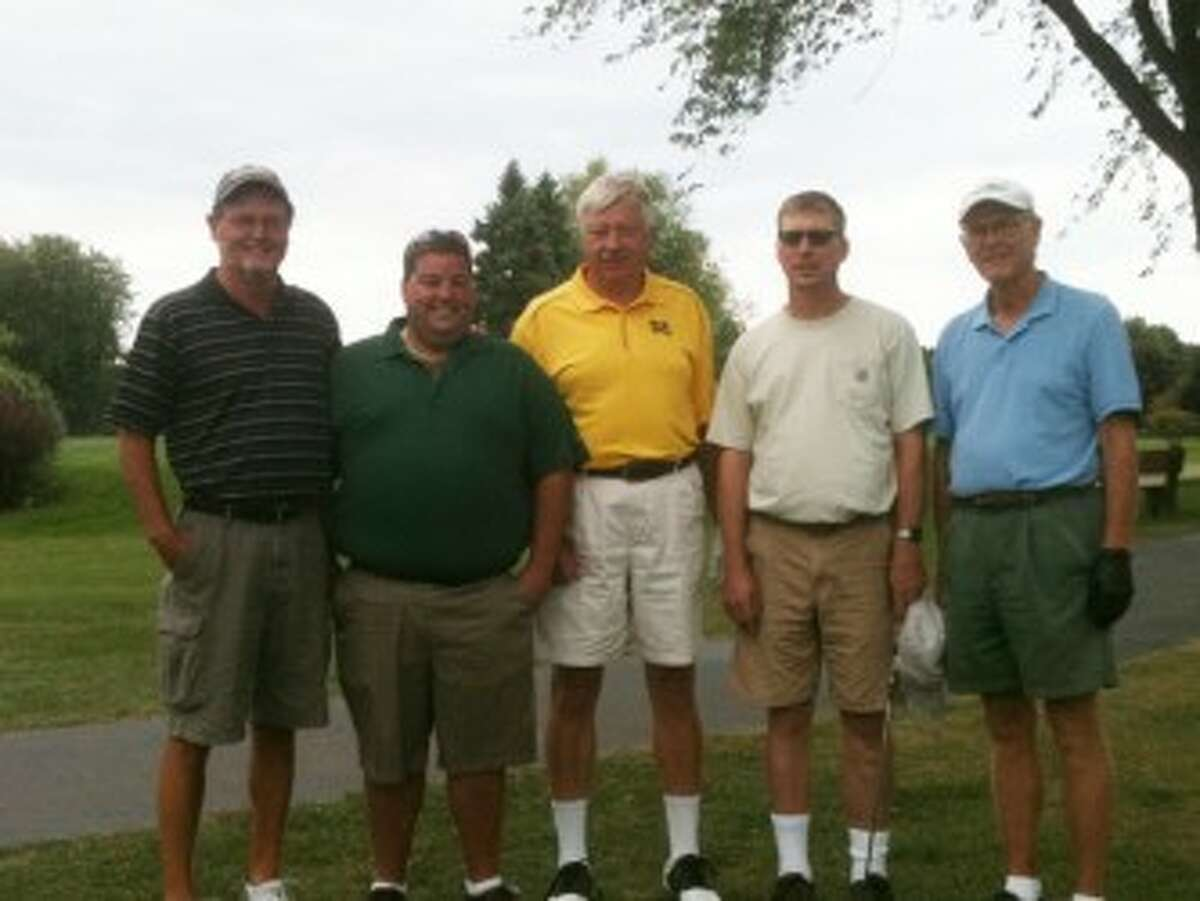 Pictured (from left to right) are John Holmes, Josh Sagala, Tom Bachinski, Mike Fatke, and Bill Kelly. (Courtesy photo)